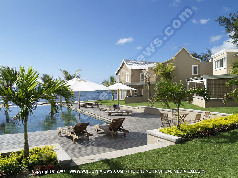 White Oak Villa Mauritius White Oak Villa Mauritius General Overview And Swimming Pool View